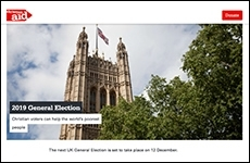 Christian Aid election web page