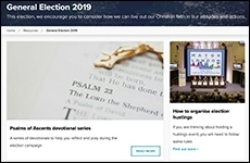 Evangelical Alliance 2019 election resources